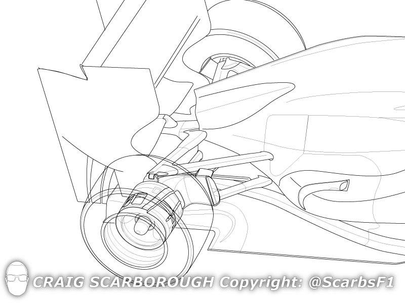 mclaren  adjustable rear brake ducts